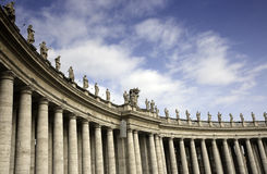 квадрат святой peter rome s колоннады Стоковые Фото