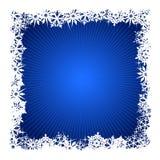 квадрат снежинки предпосылки голубой иллюстрация вектора