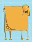 квадрат собаки иллюстрация вектора