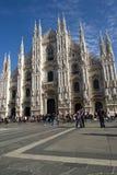 Квадрат собора Милан Стоковые Фотографии RF