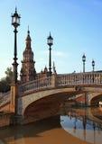 квадрат фонариков s Испании стоковое изображение