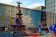 Квадрат фонтана Цинциннати Стоковое Изображение RF
