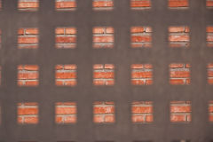 квадрат формы металла загородки Стоковое Изображение