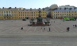 Квадрат Хельсинки Senaatintori Senat, Финляндия стоковое изображение rf