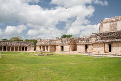 Квадрат Юкатан Мексика Nunnery Uxmal Стоковая Фотография RF