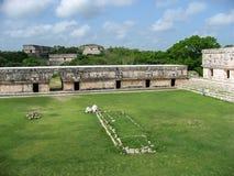 Квадрат Юкатан Мексика Nunnery Uxmal Стоковые Фото