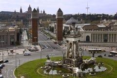 квадрат barcelona Испании Стоковое Фото