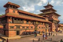 Квадрат durbar в Patan, древнем городе в Kathmandu Valley Стоковые Изображения RF