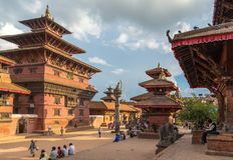 Квадрат durbar в Patan, древнем городе в Kathmandu Valley Стоковые Фотографии RF