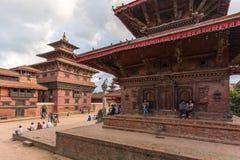 Квадрат durbar в Patan, древнем городе в Kathmandu Valley Стоковое фото RF