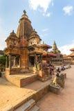 Квадрат durbar в Patan, древнем городе в Kathmandu Valley Стоковые Изображения
