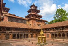 Квадрат durbar в Patan в Kathmandu Valley Стоковое Изображение RF
