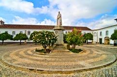 квадрат faro Португалии собора Стоковая Фотография