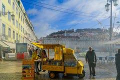 Квадрат Figueira, в Лиссабоне стоковые фотографии rf