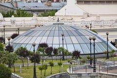 квадрат kiev независимости купола стеклянный стоковые изображения