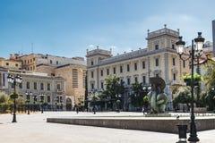 Квадрат Kotzia в коммерчески центре Афина стоковые фото