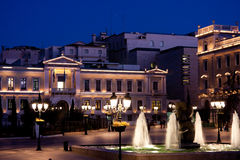 квадрат kotzia cityhall athens стоковая фотография