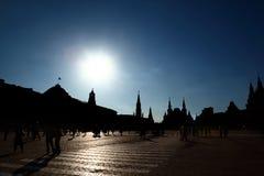 квадрат kremlin moscow федерирования красный русский стоковое изображение rf