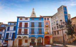 Квадрат Mercat площади Xativa в Валенсия стоковое изображение rf