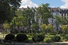 Квадрат platz Baseler в городском Франкфурте, Германии стоковое изображение rf