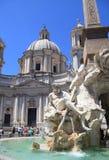 квадрат rome аркады navona Италии Стоковое Фото