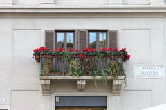 квадрат rome navona балкона стоковое изображение
