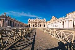 Квадрат ` s St Peter в государстве Ватикан в Риме, Италии Стоковые Фотографии RF