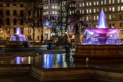 Квадрат Trafalgar во времени рождества, Лондон Стоковые Фото