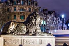 Квадрат Trafalgar во времени рождества, Лондон Стоковая Фотография