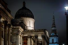 Квадрат Trafalgar во времени рождества, Лондон Стоковые Фотографии RF