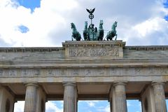 Квадрига строба Бранденбурга стоковые изображения