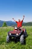 квад водителя atv счастливый стоковые изображения