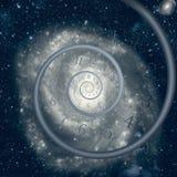 Квантовая механика встречает общую теорию относительности Стоковые Изображения