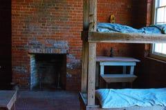 Кварталы не выглядят причудливыми к большинств, а должны быть позитвом к солдатам 1800's стоковое фото