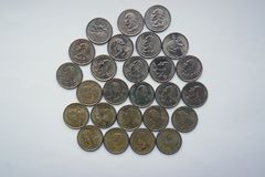 Квартальный доллар - квартал Вашингтона Стоковые Фото