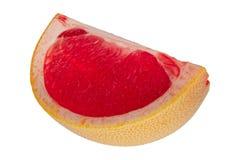 Квартал грейпфрута на белой предпосылке Стоковые Фотографии RF