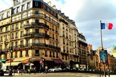 Квартал латыни улицы Парижа Стоковое Изображение