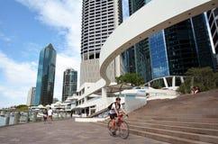 Квартал берега реки Брисбена - меньший Сингапур Стоковые Изображения