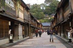 Квартал гейши, Kanazawa, Япония Стоковая Фотография RF