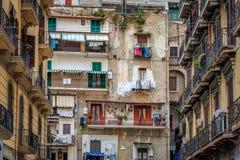 Кварталы испанского языка Неаполь Стоковая Фотография