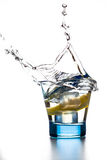 Квартальный выплеск лимона Стоковое Изображение