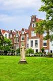 Квартал Begijnhof в Амстердаме Стоковые Фото