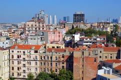 Квартал Galata Karakoy Стоковая Фотография