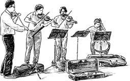 Квартет музыкантов улицы бесплатная иллюстрация