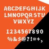 Квартира алфавита вектора клочковатая для творческой пользы Стоковая Фотография RF