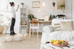 Квартира в стиле scandi стоковое изображение