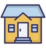 Квартира, дом семьи изолировала значок вектора который может быть легко редактировать или доработала бесплатная иллюстрация
