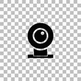 Квартира значка веб-камеры иллюстрация штока