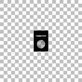 Квартира значка паспорта иллюстрация вектора
