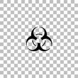 Квартира значка Biohazard бесплатная иллюстрация